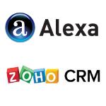 Alexa and zoho crm software
