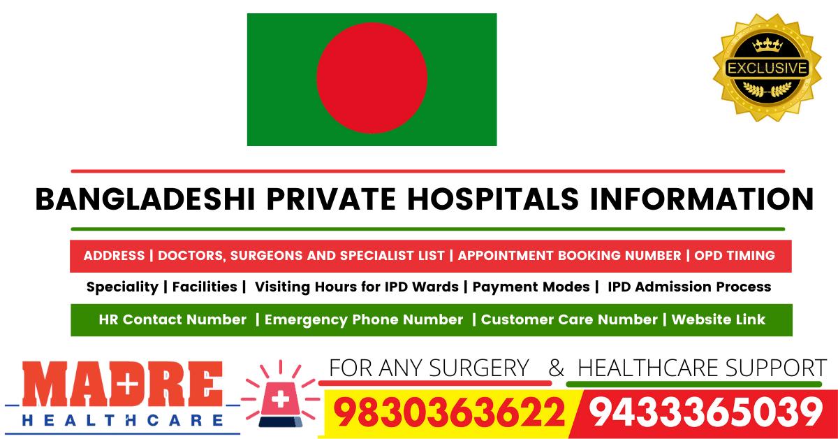 BANGLADESHI PRIVATE HOSPITALS INFORMATION, Doctor List, Address
